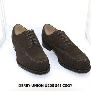Giày da nam da lộn Derby UNION UR200 size 41 001