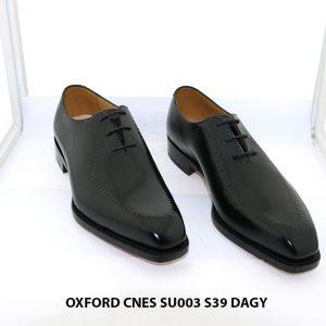 Giày tây nam da bò màu đen Oxford Cnes SU003 size 39 001