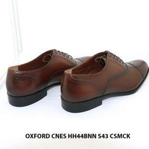 Giày tây nam màu nâu patina Oxford CNES HH44BNN Size 43 004
