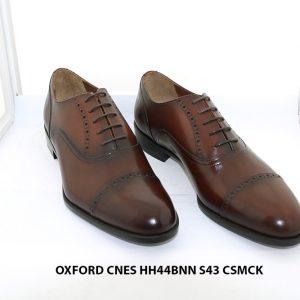 Giày tây nam màu nâu patina Oxford CNES HH44BNN Size 43 001