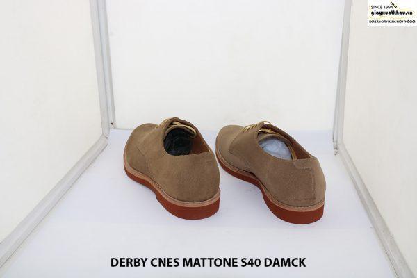 Giày tây nam da lộn Derby CNES MATTONE Size 40 004