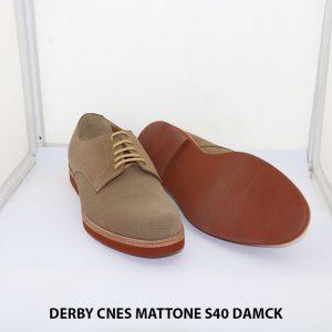 Giày tây nam da lộn Derby CNES MATTONE Size 40 003