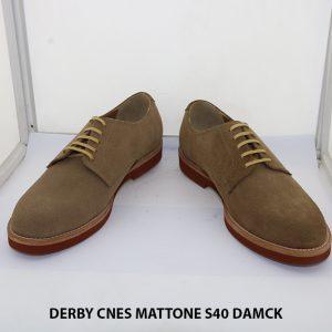 Giày tây nam da lộn Derby CNES MATTONE Size 40 002