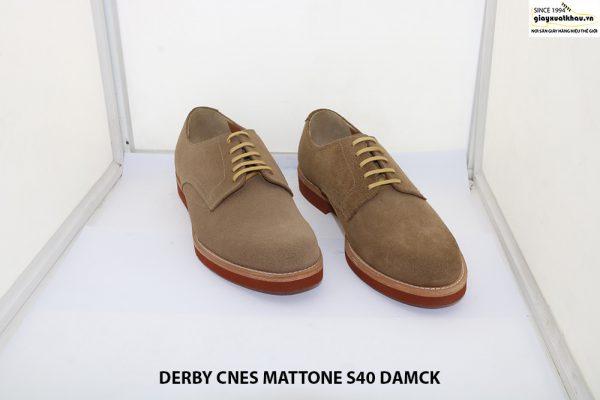 Giày tây nam da lộn Derby CNES MATTONE Size 40 001